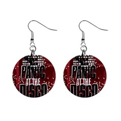 Panic At The Disco Poster Mini Button Earrings by Onesevenart