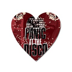 Panic At The Disco Poster Heart Magnet by Onesevenart