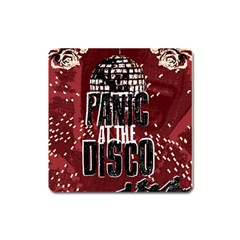 Panic At The Disco Poster Square Magnet by Onesevenart