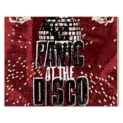 Panic At The Disco Poster Rectangular Jigsaw Puzzl by Onesevenart