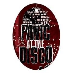 Panic At The Disco Poster Oval Ornament (two Sides) by Onesevenart