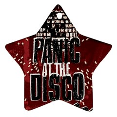 Panic At The Disco Poster Star Ornament (two Sides)  by Onesevenart