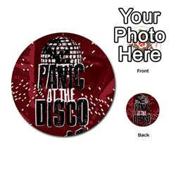 Panic At The Disco Poster Multi Purpose Cards (round)  by Onesevenart