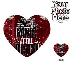 Panic At The Disco Poster Multi Purpose Cards (heart)  by Onesevenart