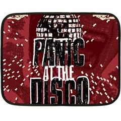 Panic At The Disco Poster Fleece Blanket (mini) by Onesevenart