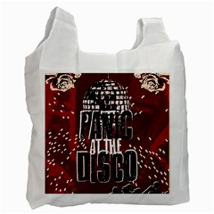 Panic At The Disco Poster Recycle Bag (two Side)  by Onesevenart
