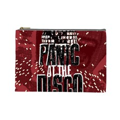 Panic At The Disco Poster Cosmetic Bag (large)  by Onesevenart