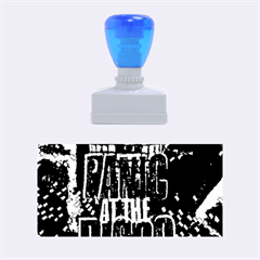 Panic At The Disco Poster Rubber Stamps (medium)  by Onesevenart