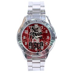 Panic At The Disco Poster Stainless Steel Analogue Watch by Onesevenart