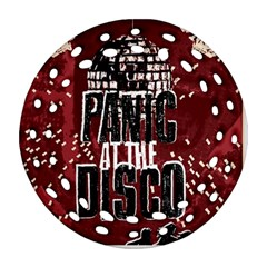 Panic At The Disco Poster Ornament (round Filigree)  by Onesevenart