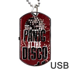 Panic At The Disco Poster Dog Tag USB Flash (One Side) by Onesevenart