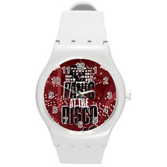 Panic At The Disco Poster Round Plastic Sport Watch (m) by Onesevenart