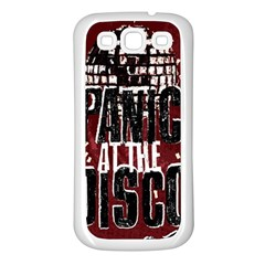 Panic At The Disco Poster Samsung Galaxy S3 Back Case (white) by Onesevenart