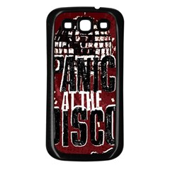 Panic At The Disco Poster Samsung Galaxy S3 Back Case (black) by Onesevenart