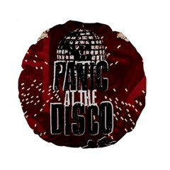 Panic At The Disco Poster Standard 15  Premium Flano Round Cushions by Onesevenart