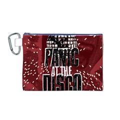 Panic At The Disco Poster Canvas Cosmetic Bag (m) by Onesevenart