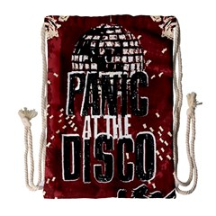 Panic At The Disco Poster Drawstring Bag (large) by Onesevenart