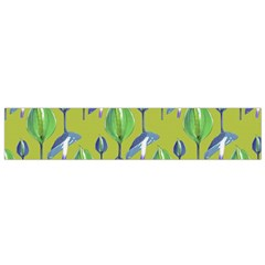 Tropical Floral Pattern Flano Scarf (Small)