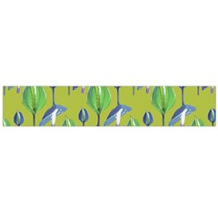 Tropical Floral Pattern Flano Scarf (Large)