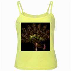Panic At The Disco Yellow Spaghetti Tank by Onesevenart