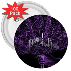 Panic At The Disco 3  Buttons (100 Pack)  by Onesevenart