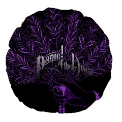 Panic At The Disco Large 18  Premium Round Cushions by Onesevenart