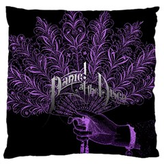 Panic At The Disco Large Flano Cushion Case (two Sides) by Onesevenart