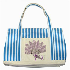 Panic At The Disco Striped Blue Tote Bag by Onesevenart