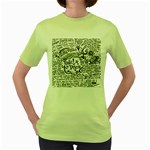 Panic! At The Disco Lyric Quotes Women s Green T-Shirt