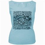 Panic! At The Disco Lyric Quotes Women s Baby Blue Tank Top