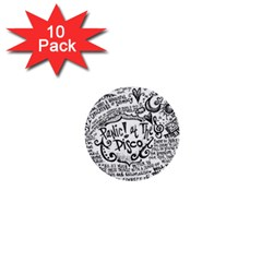 Panic! At The Disco Lyric Quotes 1  Mini Buttons (10 Pack)  by Onesevenart
