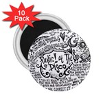 Panic! At The Disco Lyric Quotes 2.25  Magnets (10 pack)