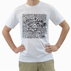 Panic! At The Disco Lyric Quotes Men s T Shirt (white) (two Sided) by Onesevenart