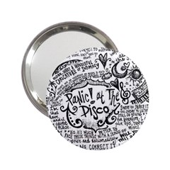 Panic! At The Disco Lyric Quotes 2 25  Handbag Mirrors by Onesevenart