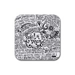 Panic! At The Disco Lyric Quotes Rubber Coaster (Square)