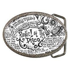 Panic! At The Disco Lyric Quotes Belt Buckles by Onesevenart
