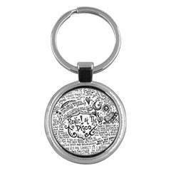 Panic! At The Disco Lyric Quotes Key Chains (round)  by Onesevenart