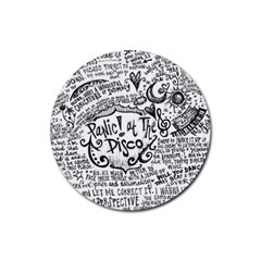 Panic! At The Disco Lyric Quotes Rubber Coaster (round)  by Onesevenart
