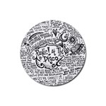 Panic! At The Disco Lyric Quotes Rubber Round Coaster (4 pack)