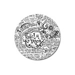Panic! At The Disco Lyric Quotes Magnet 3  (Round)