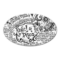Panic! At The Disco Lyric Quotes Oval Magnet by Onesevenart