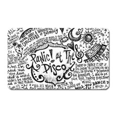 Panic! At The Disco Lyric Quotes Magnet (rectangular) by Onesevenart
