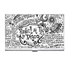 Panic! At The Disco Lyric Quotes Business Card Holders by Onesevenart