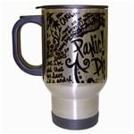 Panic! At The Disco Lyric Quotes Travel Mug (Silver Gray)