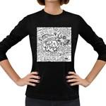 Panic! At The Disco Lyric Quotes Women s Long Sleeve Dark T-Shirts
