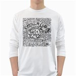 Panic! At The Disco Lyric Quotes White Long Sleeve T-Shirts