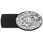 Panic! At The Disco Lyric Quotes USB Flash Drive Oval (4 GB)