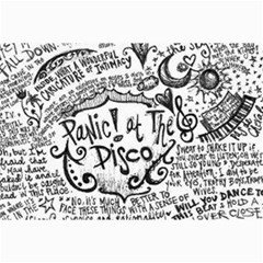 Panic! At The Disco Lyric Quotes Collage Prints by Onesevenart
