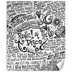 Panic! At The Disco Lyric Quotes Canvas 8  X 10  by Onesevenart