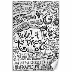 Panic! At The Disco Lyric Quotes Canvas 24  X 36  by Onesevenart